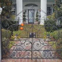 Beautiful wrought iron gates along the Battery in Charleston, SC