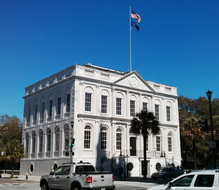 Charleston City Hall on a brilliant SC day
