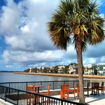 A spectacular spot for a drink overlooking the High Battery in Charleston, SC