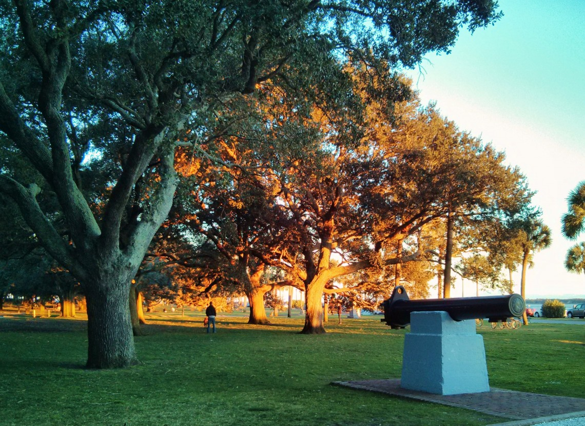 White Point Garden Sunset - Glimpses of Charleston