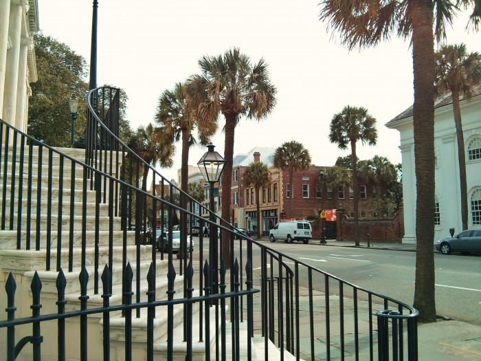 Steps of Charleston, SC City Hall and Broad Street