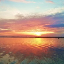 A beautiful sunset along the Ashley River in Charleston, SC