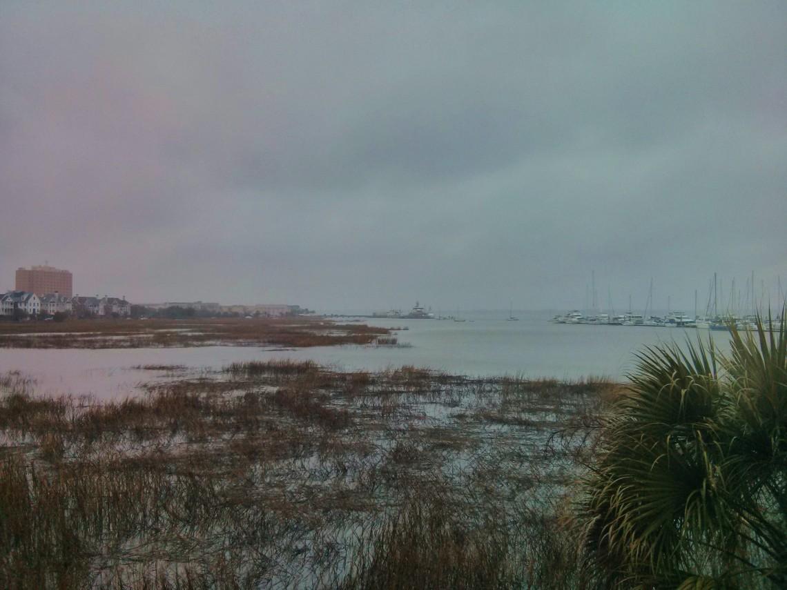 A winter storm engulfs Charleston, SC