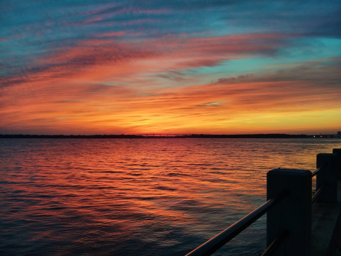 A spectacular Charleston sunset along the Ashley River