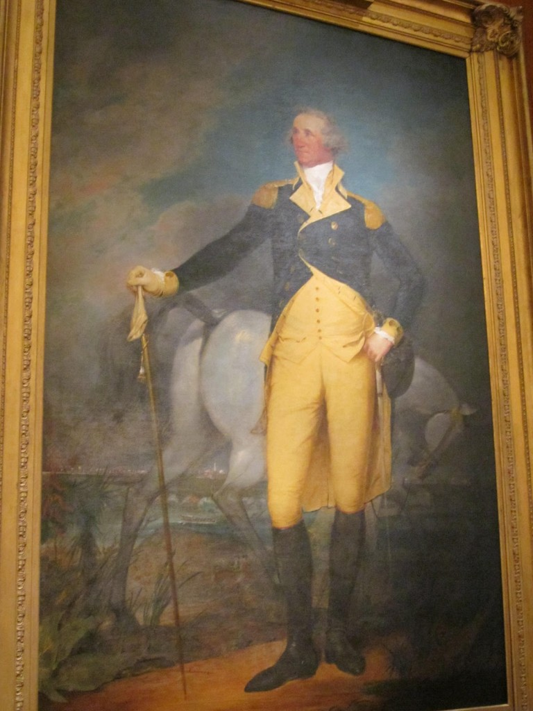 John Trumbell painting of George Washington, with horse's ass
