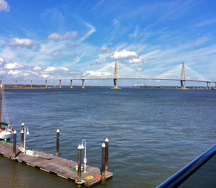 The Ravenel (Cooper River) Bridge on a glorious March Charleston day.