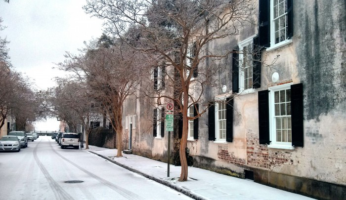 Charleston is beautiful in the rare and unusual snow.