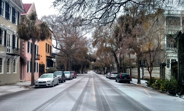 Charleston, SC in the snow.