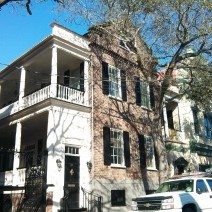 Two beautiful mid-sized examples of the Charleston single house.