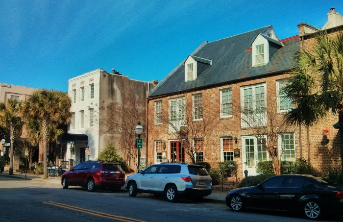 Once one of the centers for trade in antebellum in Charleston, SC, Vendue Range is now home to little shops, boutique hotels and offices.