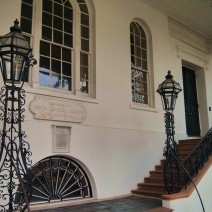 The beautiful staircases leading into South Carolina Society Hall.