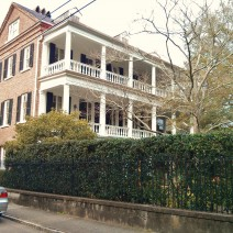 """A porch on a Charleston Single House is also called a """"piazza."""" All piazzas are porches but not all porches are piazzas."""