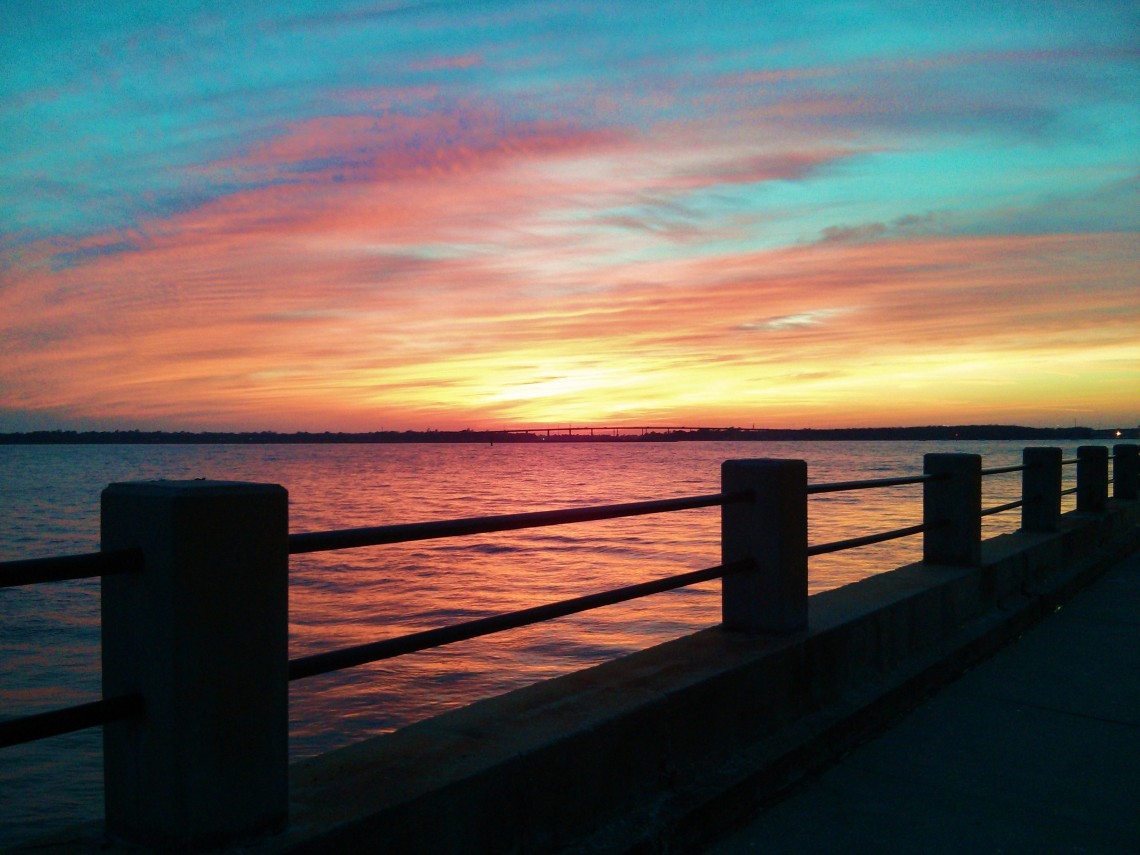 Another beautiful Charleston sunset along the Ashley River in Charlesto, SC