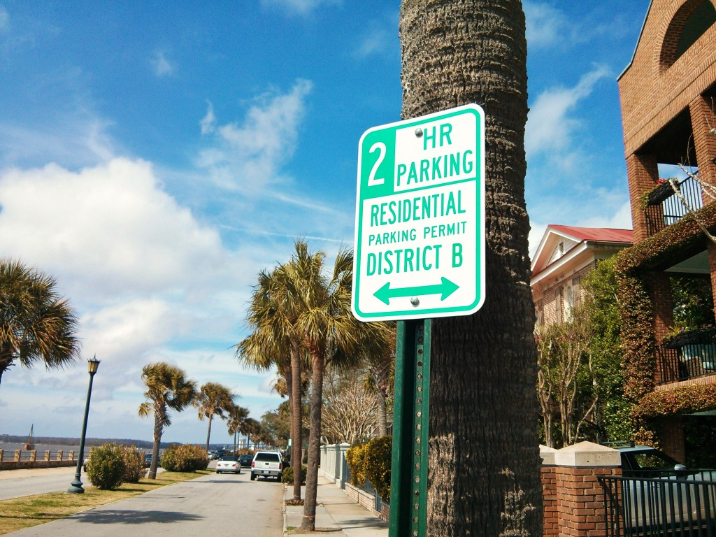 Charleston parking signs are confusing! You can park there without a permit, but only for the  time stated.
