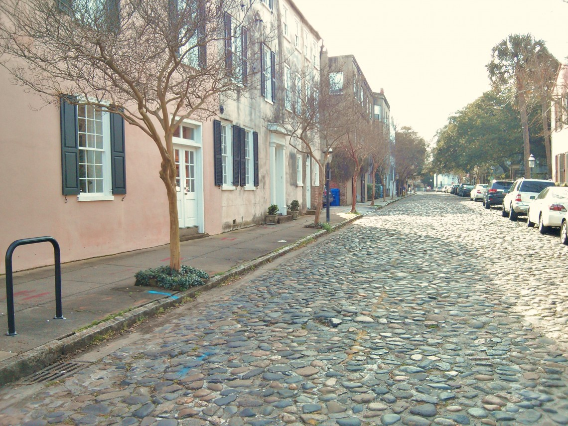 The cobblestone streets of Charleston, SC are incredibly picturesque.