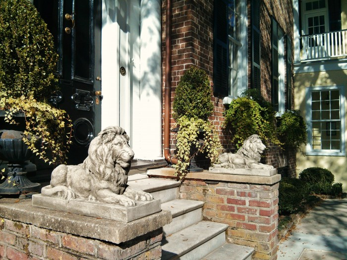 These stone lions are on magnificently on guard on Tradd Street in Charleston, SC
