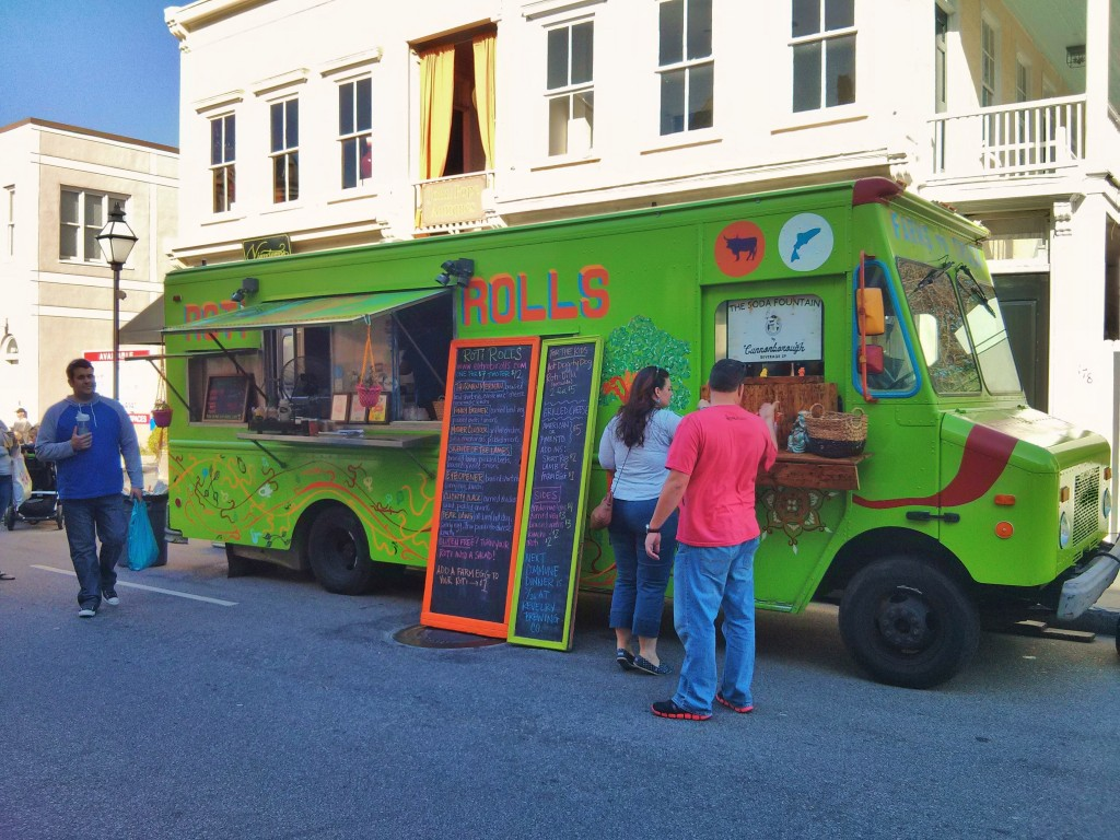 There is a vibrant food truck culture in Charleston, SC... lead by Roti Rolls, which nationally known one