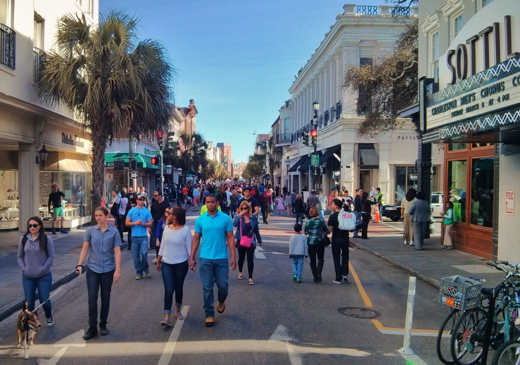 One of the wonderful monthly traditions in Charleston, SC is Second Sunday -- where King Street is shut to traffic and the street turns into a wonderful pedestrian mall.
