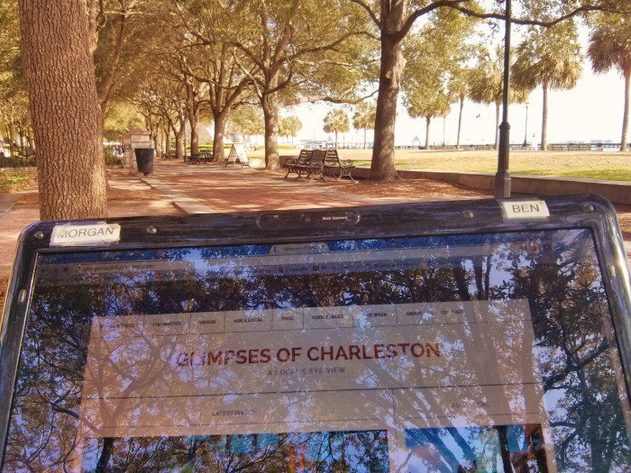 Free Wi-Fi in Waterfront Park helps make for a beautiful temporary office in Charleston, SC