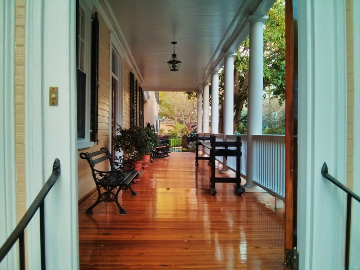 """Open a """"hospitality door"""" to a Charleston piazza and you may be amazed at what you see."""