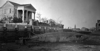 Is it true that there is a Civil War submarine buried under a street in Charleston?