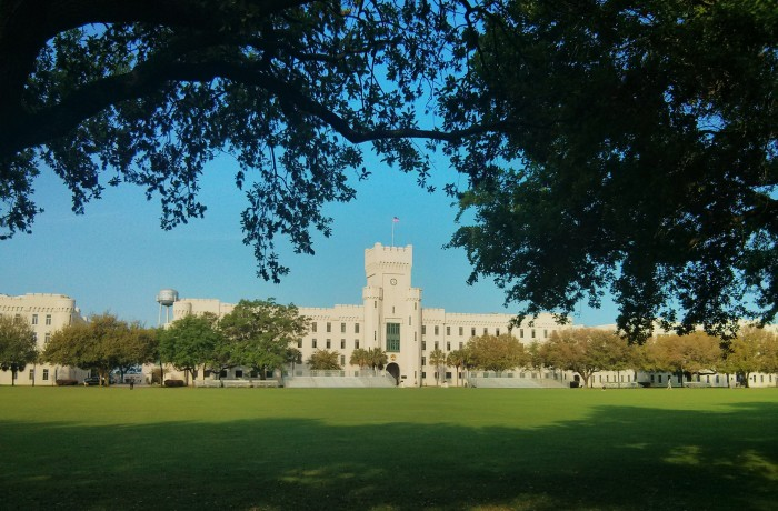 The Citadel is the military college of SC. It has a beautiful campus with impressive buildings.