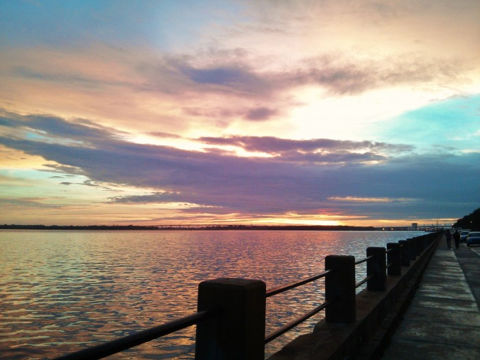 After a violent storm passed through Charleston, the sunset along the Ashley River was beautiful.