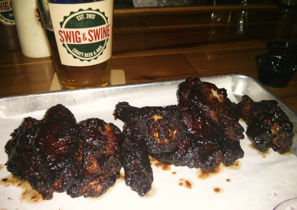 Want some memorable chicken wings? Glimpses of Charleston has found them at Swig & Swine.