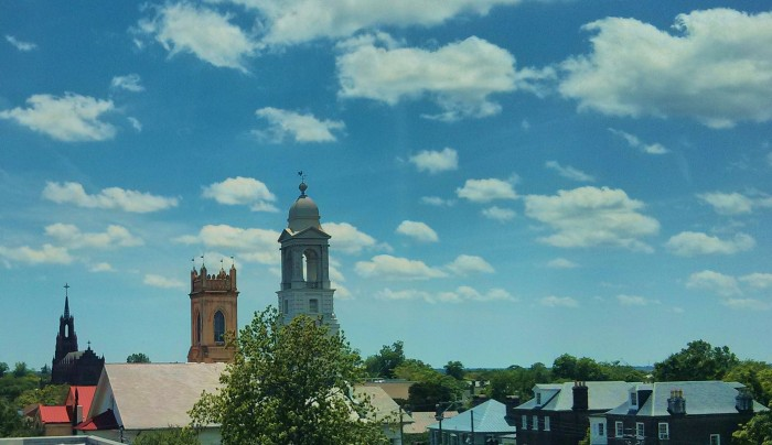 """The Charleston, SC skyline is permeated with steeples, so much one of its nicknames is """"The Holy City."""" Here are three of them."""