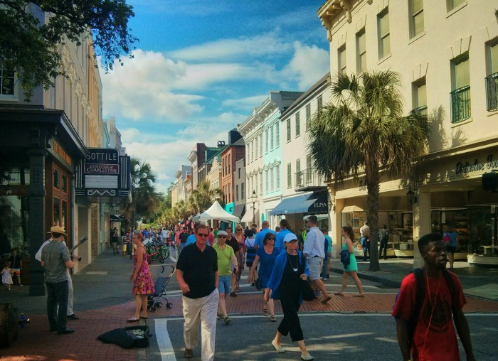 Every second Sunday of the month, King Street in Charleston, SC is shut down to traffic and it becomes and amazing pedestrian mall -- full of shopping, food, music and more.