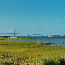 Charleston Harbor is full of all sorts of interesting watercraft on a beautiful South Carolina summer day.