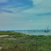 The views from the peninsula of Charleston, SC are beautiful. This is along the Ashley River from the City Marina.
