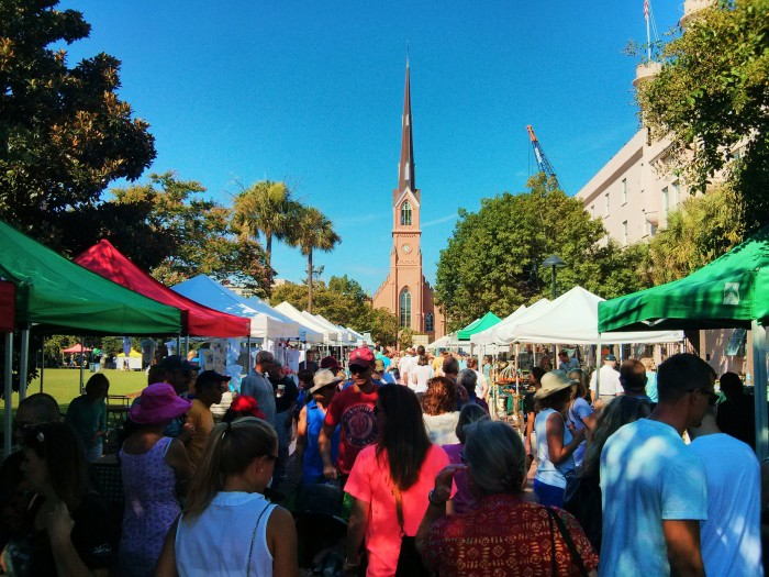 The Charleston Farmers Market in Marion Square is always a rocking place to be on a Saturday morning, particularly when the weather is this gorgeous.