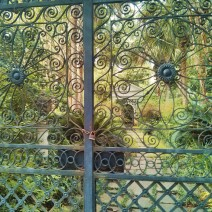 This beautiful iron gate protects an equally beautiful garden in Charleston, SC.
