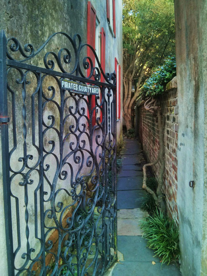 A beautiful little nook in Charleston, SC which was a hideout for pirates! (There was even an escape tunnel to the water.)