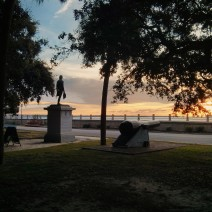 General Moultrie greets the dawn at White Point Garden in Charleston, SC.