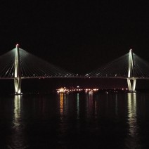 The Ravenel (Cooper River) Bridge in Charleston, SC is spectacular at night.