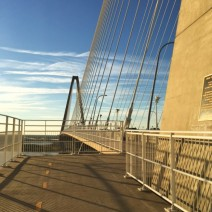 The Ravenel (Cooper River) Bridge in Charleston, SC is a spectacular place to go for a walk or bike ride. Wonderful views of Charleston, its harbor and the surrounding areas.