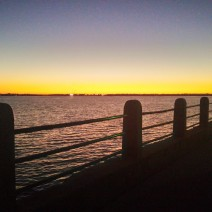 A beautiful sunset along the Battery in Charleston, SC.