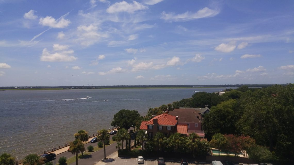 This photo of the Low Battery and Ashley River is taken from the Fort Sumter House. Once a hotel (the Fort Sumter Hotel), John F. Kennedy stayed there while in the Navy... prior to heading to the Pacific and taking command of PT109.