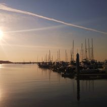 A deliciously calm Charleston sunrise at the City Marina.