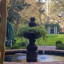 On January 2nd, the temperature reached a record 81 degrees in Charleston. On January 8th, it was in the 20's and this beautiful fountain was icy. Crazy Charleston weather.