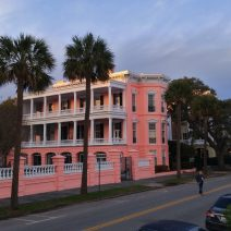 The wonderful pink house along the High Battery in Charleston, recently reverted to being a private home after years of being a B&B.