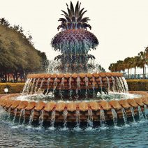 Charleston is full of beautiful fountains. The Pineapple Fountain in Waterfront Park is a welcoming (which the pineapple symbolizes) favorite. On hot summer days, it's a great spot in which to cool your feet.
