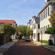 Church Street is one of the best streets to stroll along in Charleston. Not only are the houses beautiful, below Water Street it is paved with beautiful brick.