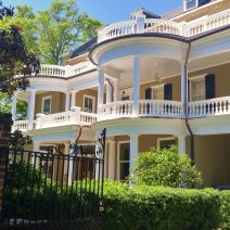 """Ropemakers Lane is a tiny little dead-end street just below Broad Street in downtown Charleston. While the driveway of this beautiful house comes out on the lane, the """"front"""" is on Meeting Street."""