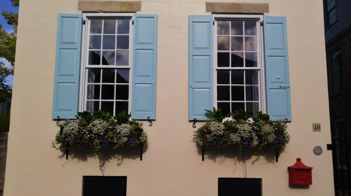 The beauty of this colonial era house and its wonderful flower boxes can be found on King Street.