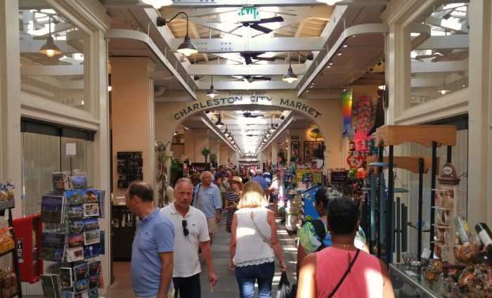 The Charleston City Market has a long and rich history. In a recent renovation a section was fully enclosed and air-conditioned. It's a beautiful spot and full of interesting things to buy and eat.