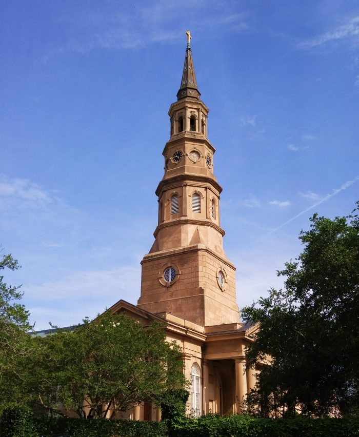 The striking steeple of St. Philip's Episcopal Church... which is located, fittingly enough, on Church Street.