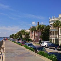 A view along East Battery from the High Battery. Classic Charleston.